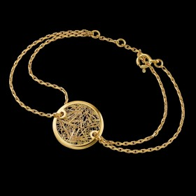 Bracelet Soie d'or rond