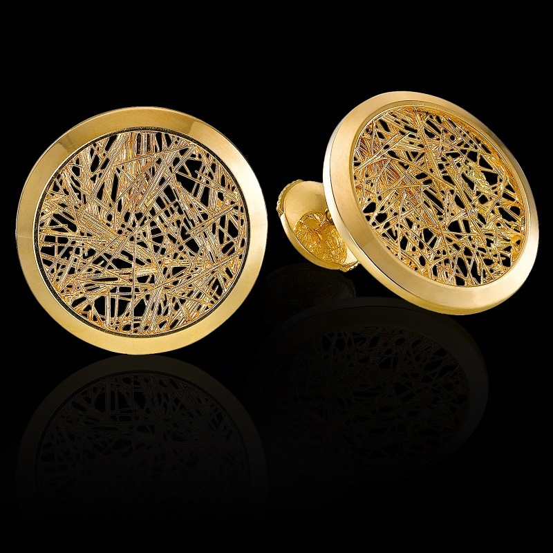 Boucle d'oreille Soie d'Or ronde