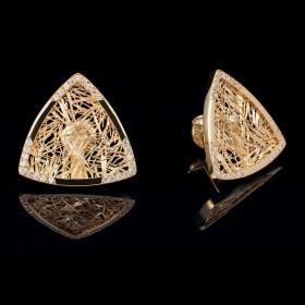 Boucles d'oreilles troïda Soie d'Or serties
