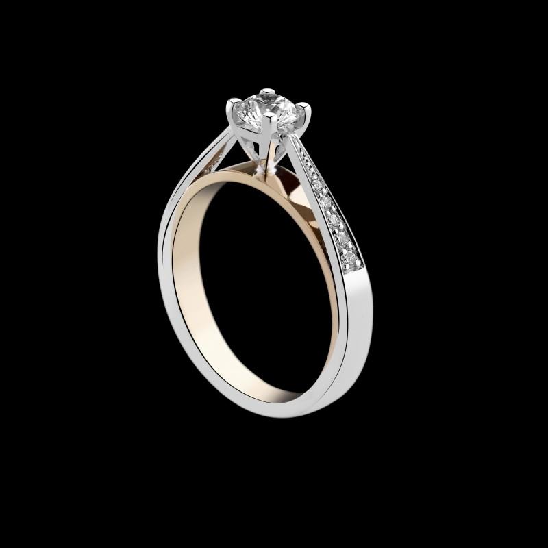 bague solitaire diamant accompagne