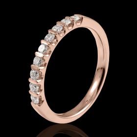 alliance femme or rose et diamants Paola