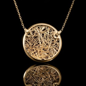 Collier femme or jaune Soie d'Or rond