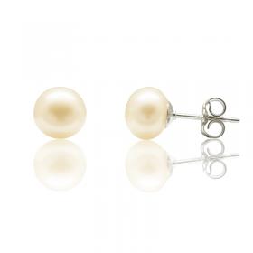 Boucles d'oreilles perles de culture argent
