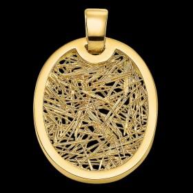 Pendentif Soie d'Or ovale