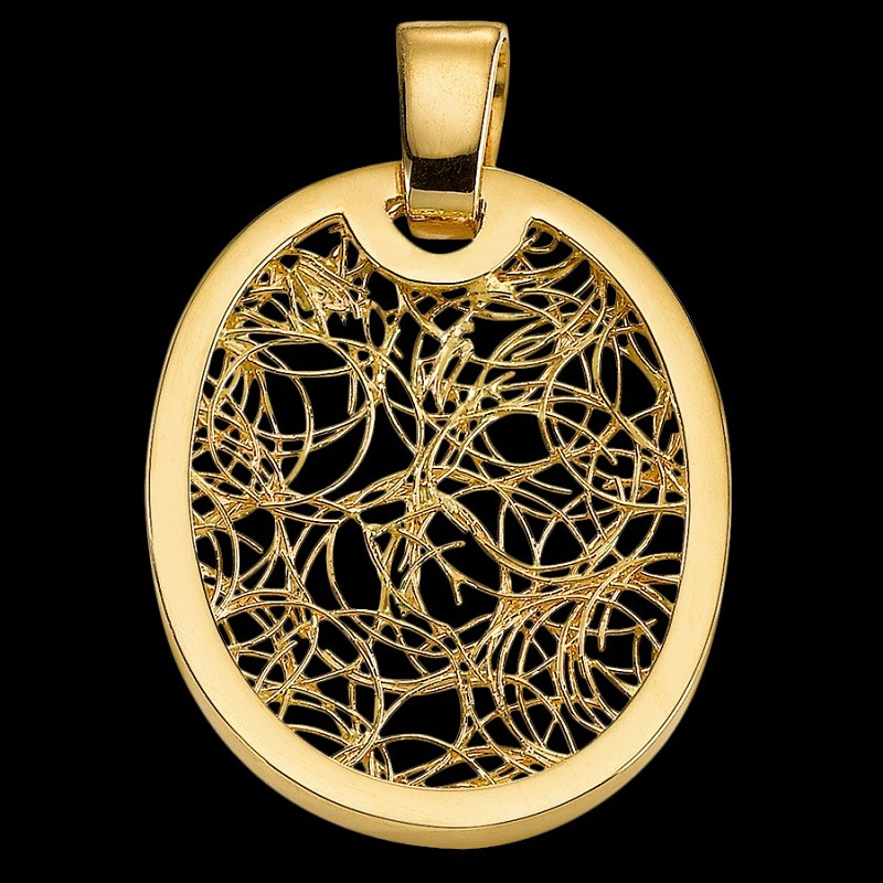 Pendentif ovale Soie d'Or ronde