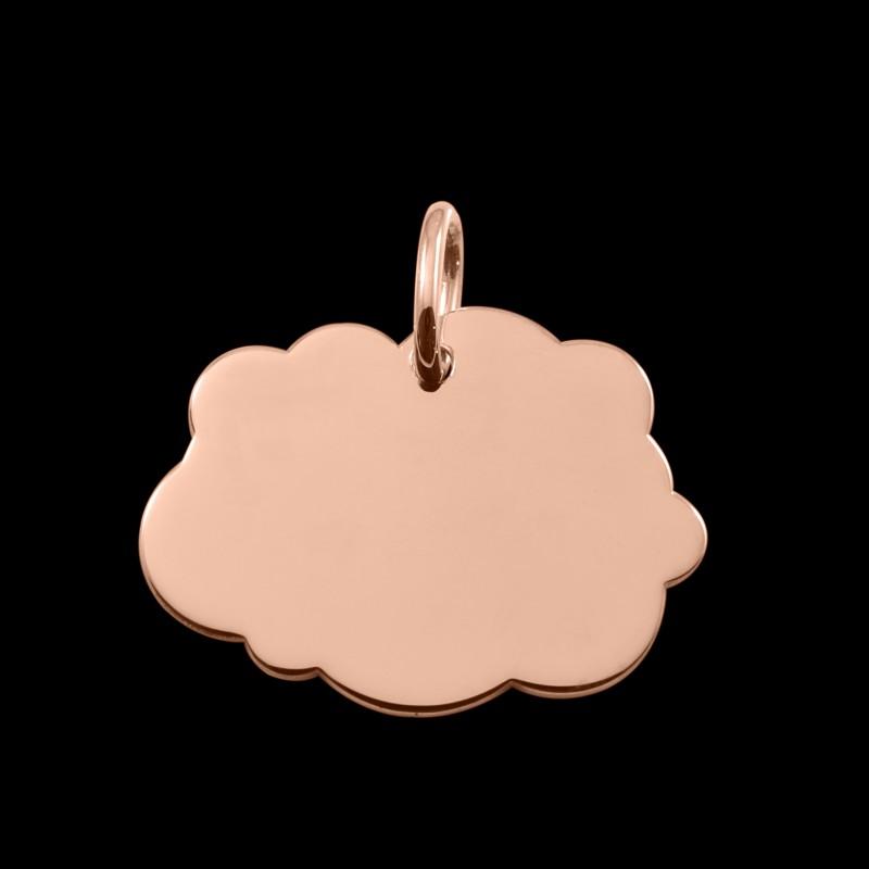 Médaille de baptême or rose Nuage