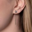 Boucles d'oreilles diamants femme or blanc colorys