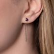 Boucles d'oreilles rubis femme or blanc colorys