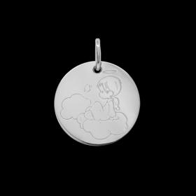 Médaille de baptême or Petit ange