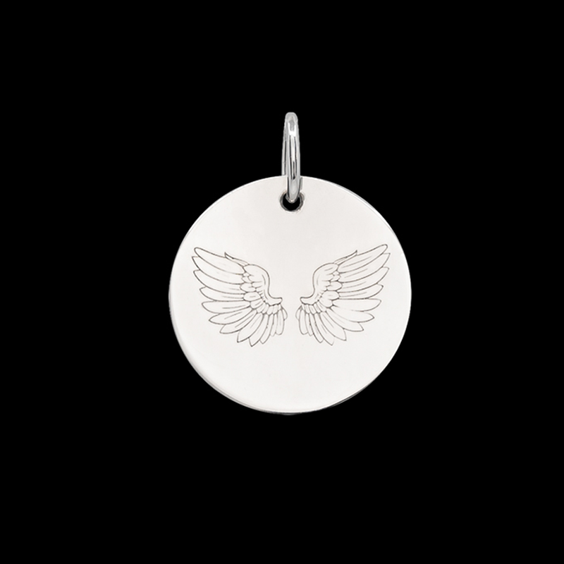 Médaille de baptême or blanc Ales
