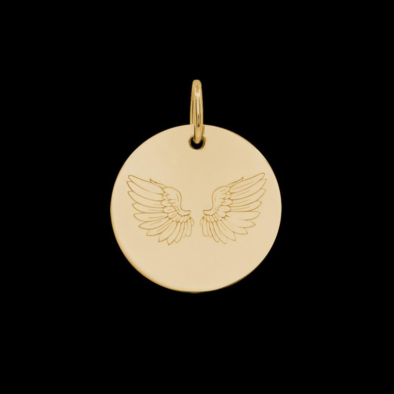Médaille de baptême or jaune Ales