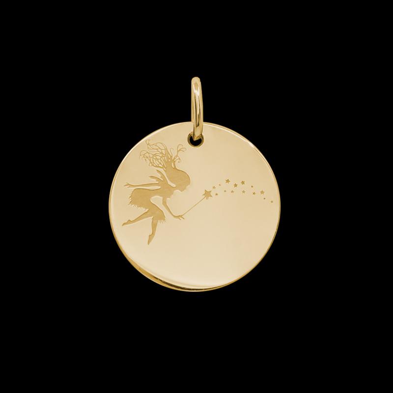 Médaille de baptême or Stella