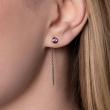 Boucles d'oreilles Saphirs roses femme or blanc colorys
