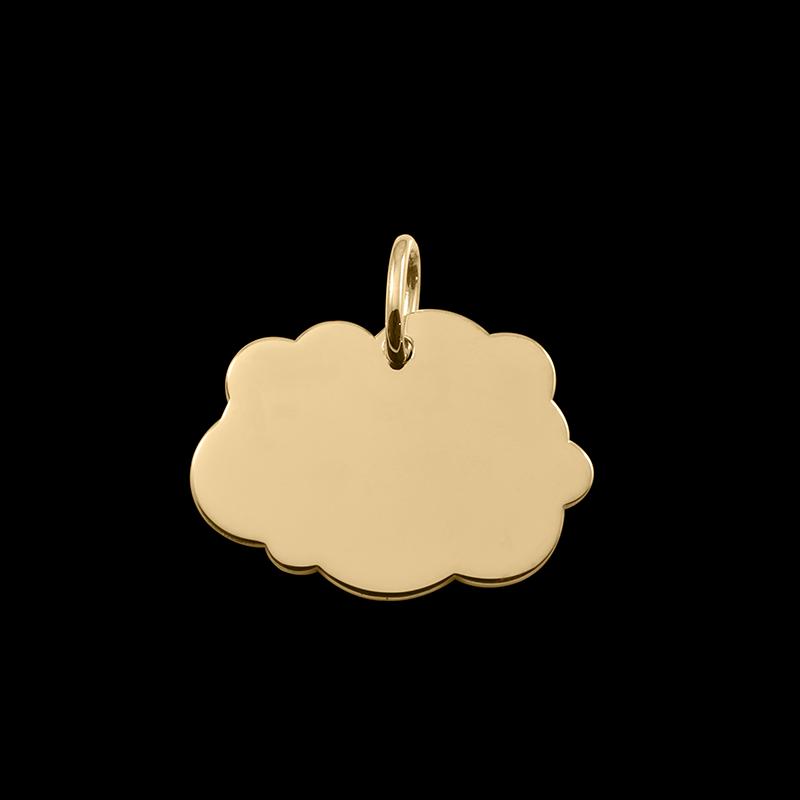 Médaille de baptême or Nuage