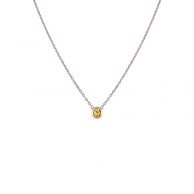 Collier Colorys Saphir jaune