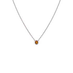 Collier citrine femme or blanc colorys