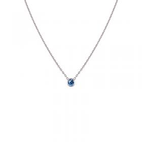 Collier Colorys Saphir bleu