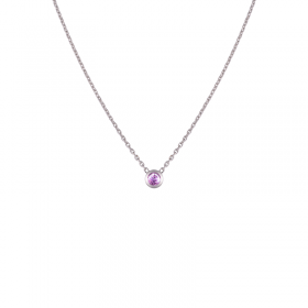 Collier Colorys Saphir rose