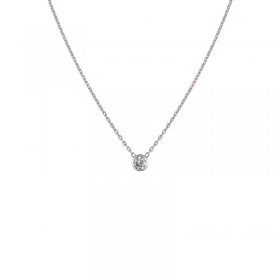 Collier Diamant femme or blanc colorys