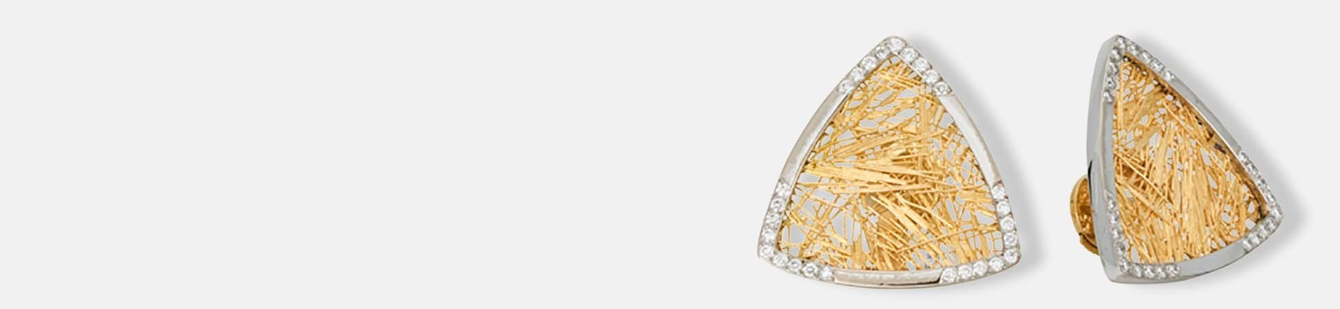 Boucles d'oreilles Soie d'or